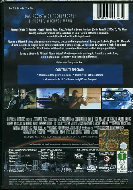Miami Vice di Michael Mann - DVD - 2