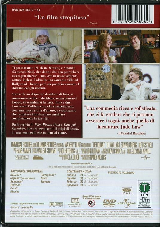 L' amore non va in vacanza di Nancy Meyers - DVD - 2