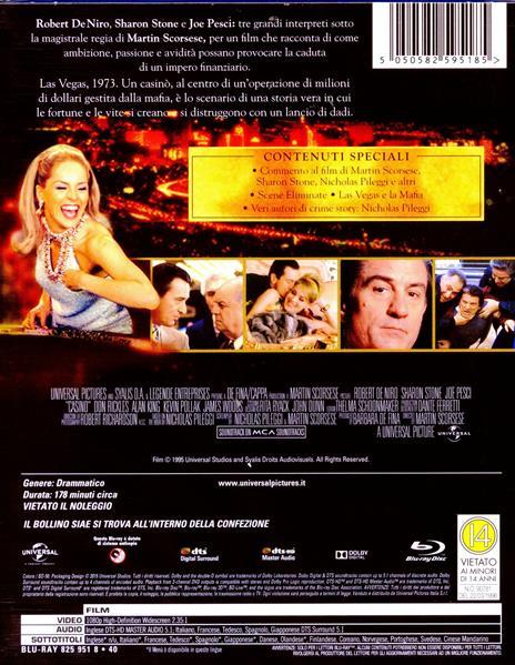 Casinò<span>.</span> Edizione 20° anniversario di Martin Scorsese - Blu-ray - 2