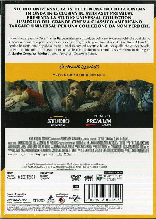 Biutiful di Alejandro González Iñárritu - DVD - 2