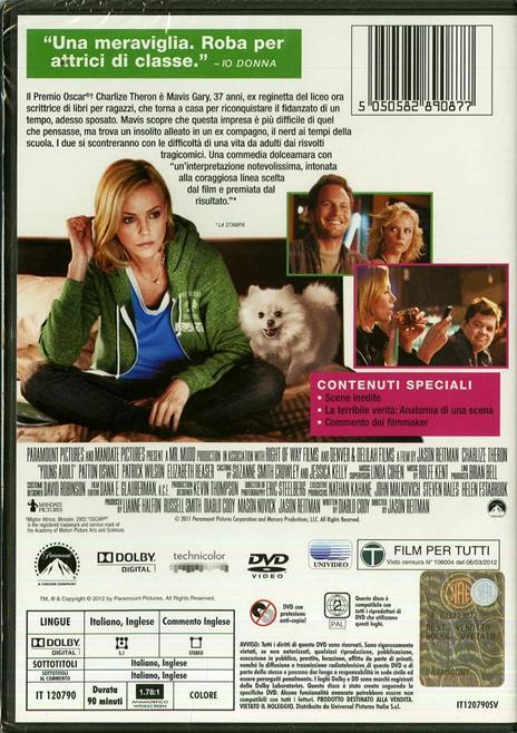 Young Adult di Jason Reitman - DVD - 2