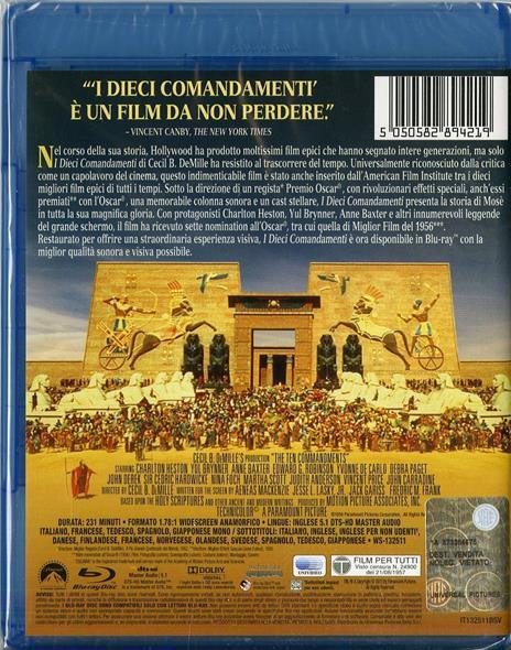 I Dieci Comandamenti (2 Blu-ray) di Cecil B. De Mille - Blu-ray - 2