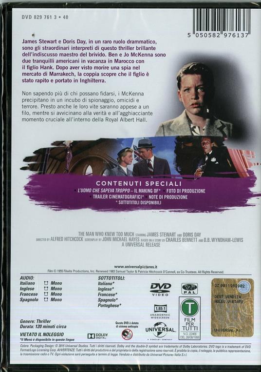 L' uomo che sapeva troppo di Alfred Hitchcock - DVD - 2