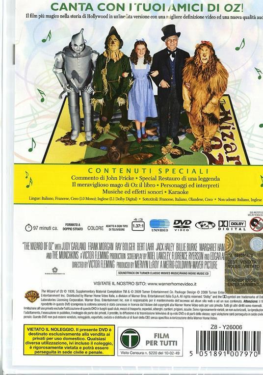 Il mago di Oz. Con Karaoke (1939) di Victor Fleming - DVD - 2