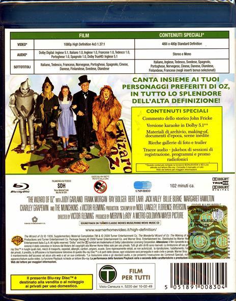 Il mago di Oz di Victor Fleming - Blu-ray - 2