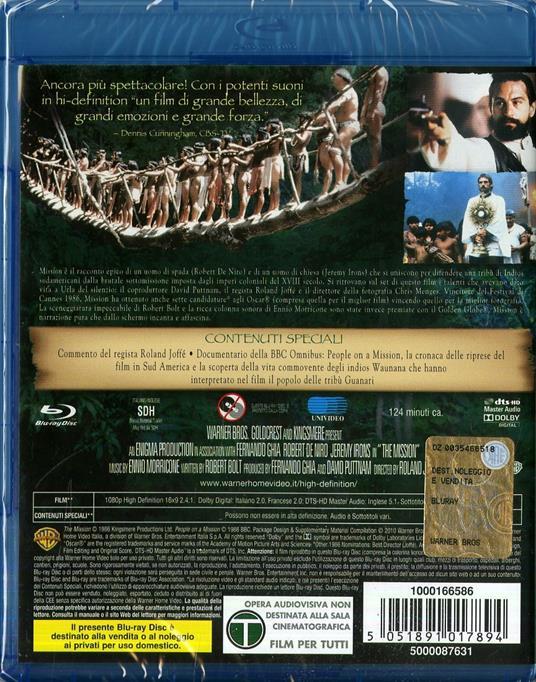 Mission di Roland Joffé - Blu-ray - 2