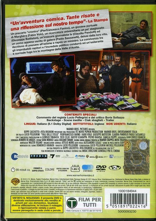 Figli delle stelle di Lucio Pellegrini - DVD - 2