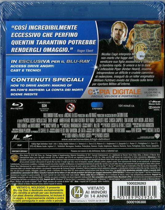 Drive Angry di Patrick Lussier - Blu-ray - 2