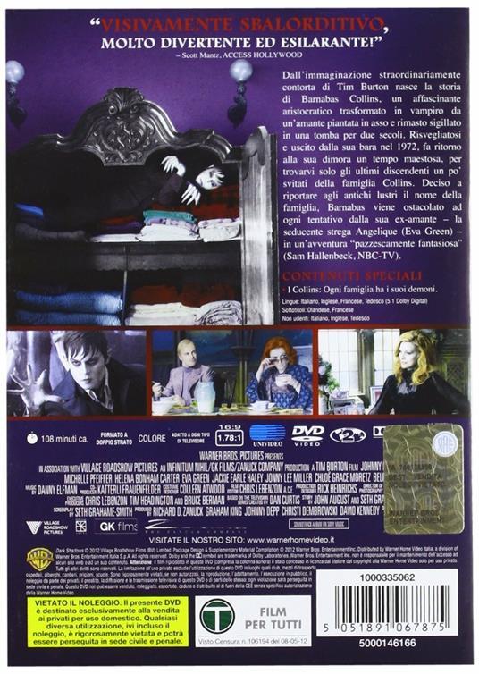 Dark Shadows di Tim Burton - DVD - 2