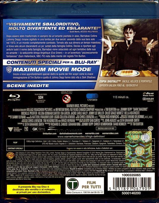 Dark Shadows di Tim Burton - Blu-ray - 2