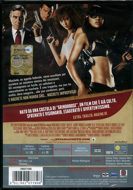 Machete di Ethan Maniquis,Robert Rodriguez - DVD - 2