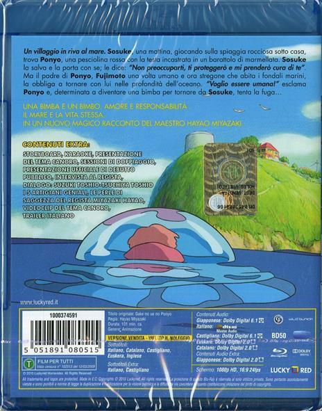 Ponyo sulla scogliera di Hayao Miyazaki - Blu-ray - 2