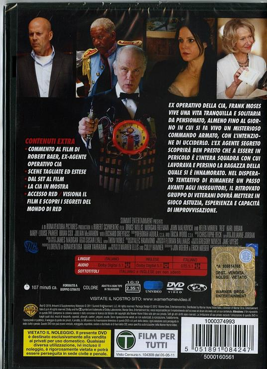Red di Robert Schwentke - DVD - 2