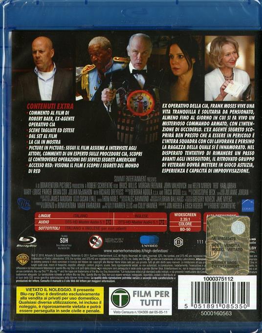 Red di Robert Schwentke - Blu-ray - 2