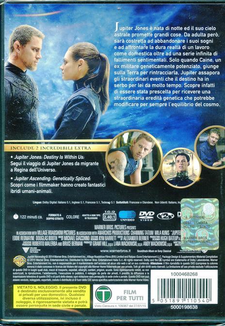 Jupiter. Il destino dell'universo di Andy Wachowski,Lana Wachowski - DVD - 2