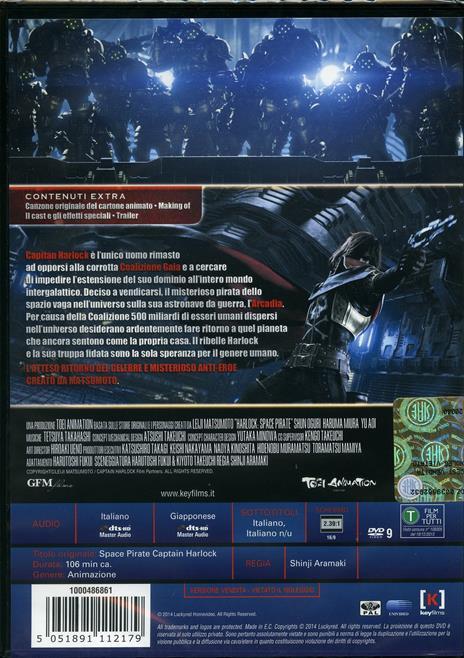 Capitan Harlock di Shinji Aramaki - DVD - 2