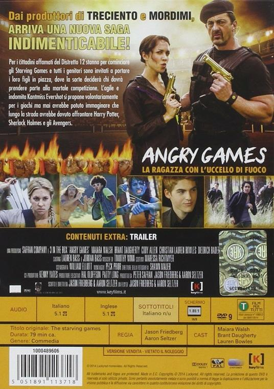 Angry Games. La ragazza con l'uccello di fuoco di Jason Friedberg,Aaron Seltzer - DVD - 2