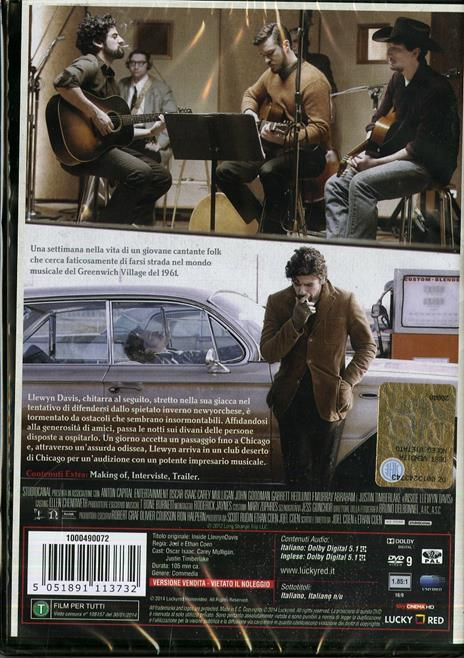 A proposito di Davis di Ethan Coen,Joel Coen - DVD - 2