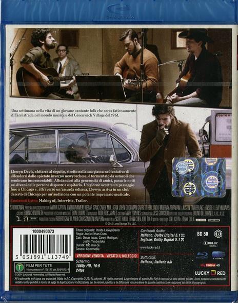 A proposito di Davis di Ethan Coen,Joel Coen - Blu-ray - 2