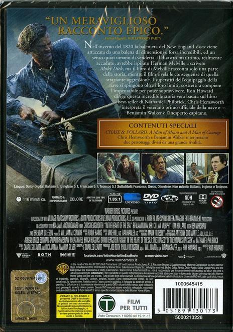 Heart of the Sea. Le origini di Moby Dick di Ron Howard - DVD - 8