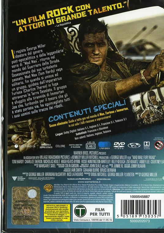 Mad Max. Fury Road di George Miller - DVD - 2