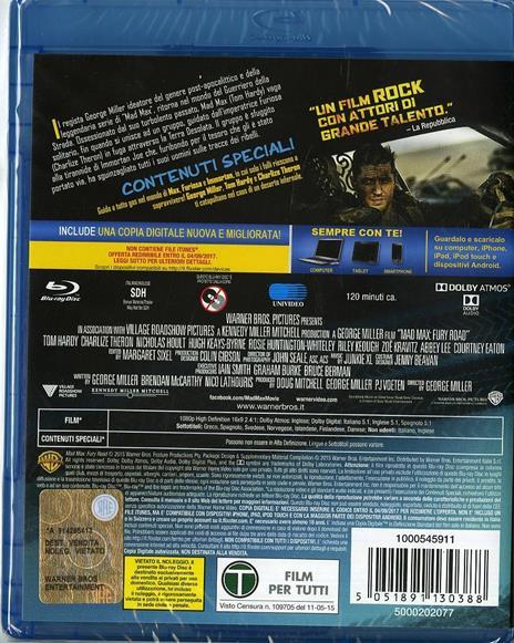 Mad Max. Fury Road di George Miller - Blu-ray - 2