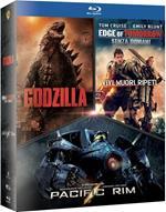Godzilla + Edge of Tomorrow + Pacific Rim (3 Blu-ray)