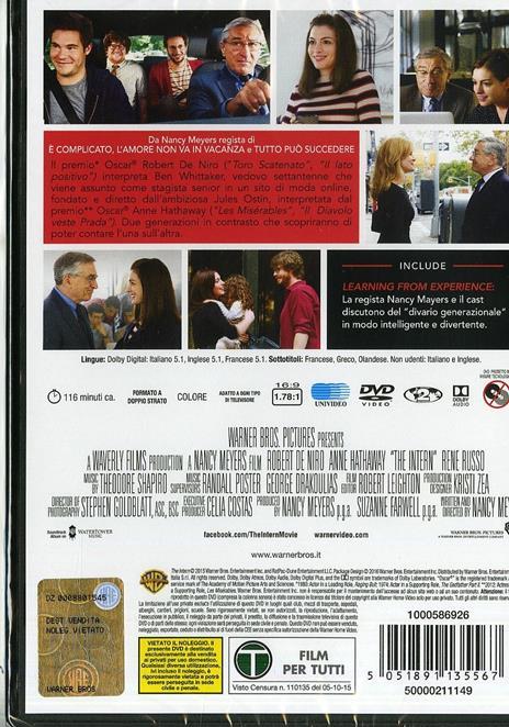 Lo stagista inaspettato di Nancy Meyers - DVD - 8