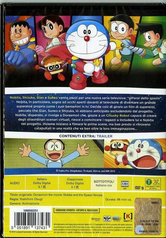 Doraemon. Il film. Nobita e gli eroi dello spazio di Yoshihiro Osugi - DVD - 2