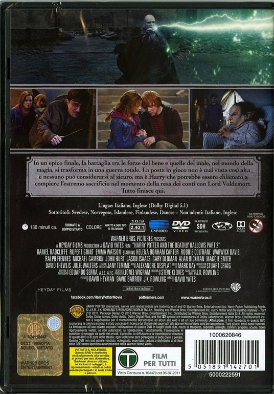 Harry Potter e i doni della morte. Parte 2<span>.</span> Edizione Speciale di David Yates - DVD - 3