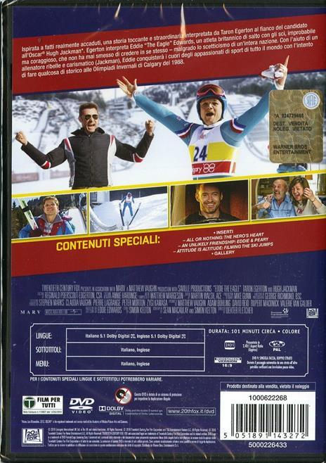 Eddie the Eagle. Il coraggio della follia di Dexter Fletcher - DVD - 2