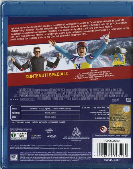 Eddie the Eagle. Il coraggio della follia di Dexter Fletcher - Blu-ray - 2