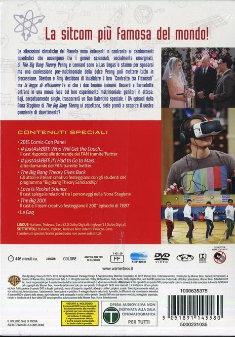 The Big Bang Theory. Stagione 9 (3 DVD) di Mark Cendrowski,Peter Chakos,Anthony Joseph Rich - DVD - 2
