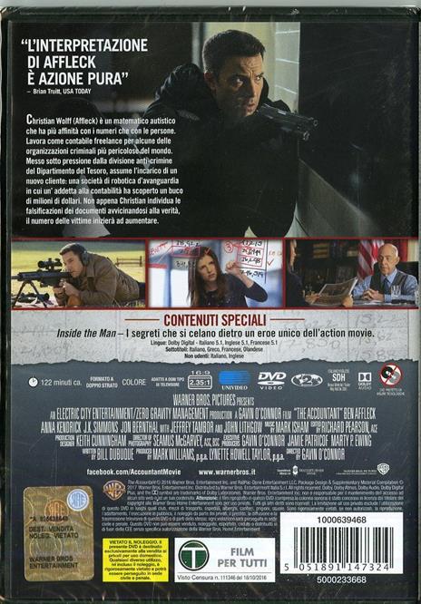 The Accountant (DVD) di Gavin O'Connor - DVD - 3