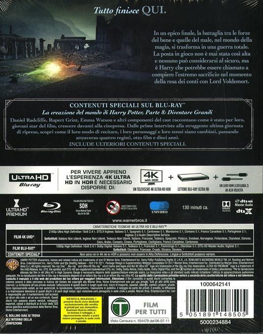 Harry Potter e i doni della morte. Parte 2 (Blu-ray + Blu-ray 4K Ultra HD) di David Yates - 2