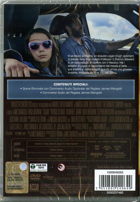 Logan. The Wolverine (DVD) di James Mangold - DVD - 6