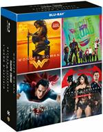 Boxset DC 4 film. Wonder Woman - Suicide Squad - L'uomo d'acciaio - Batman v Superman (4 Blu-ray)