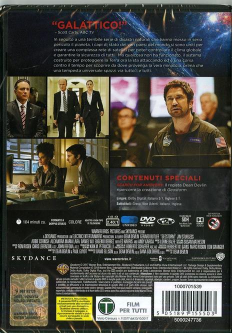Geostorm (DVD) di Dean Devlin - DVD - 2