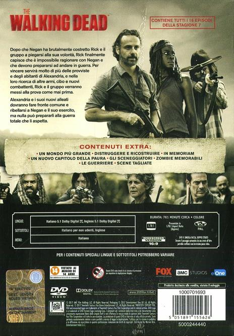 The Walking Dead. Stagione 7. Serie TV ita (5 DVD) di Greg Nicotero,Jennifer Chambers Lynch,Michael Slovis,Stephen Williams,Avi Youabian - DVD - 2