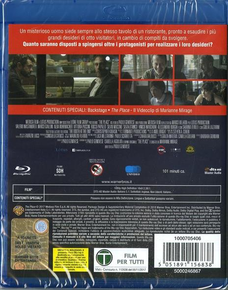 The Place (Blu-ray) di Paolo Genovese - Blu-ray - 2