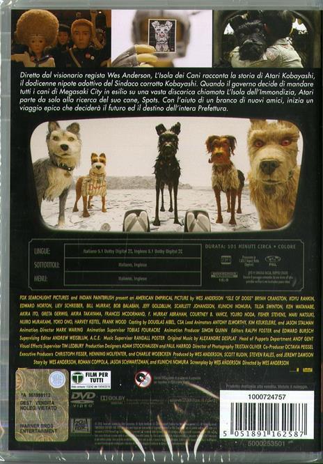 L' isola dei cani (DVD) di Wes Anderson - DVD - 3
