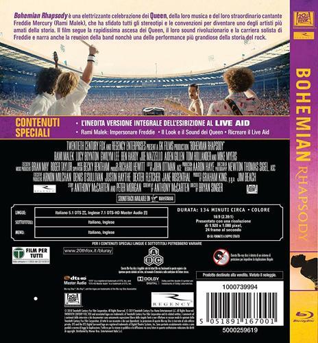 Bohemian Rhapsody (Blu-ray) di Bryan Singer - Blu-ray - 2