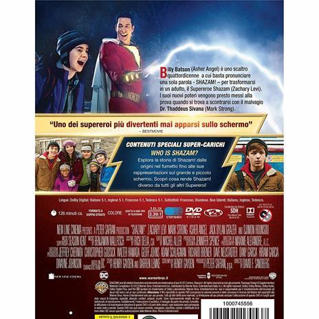 Shazam! (DVD) di David F. Sandberg - DVD - 2