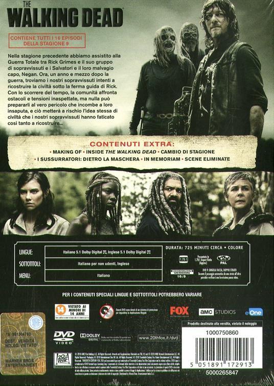 The Walking Dead. Stagione 9. Serie TV ita (DVD) di Greg Nicotero - DVD - 2