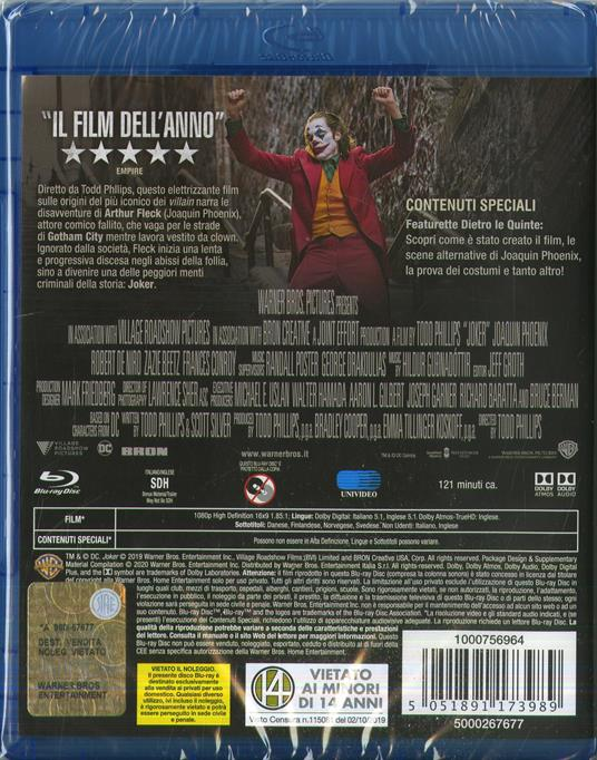 Joker (Blu-ray) di Todd Phillips - Blu-ray - 3