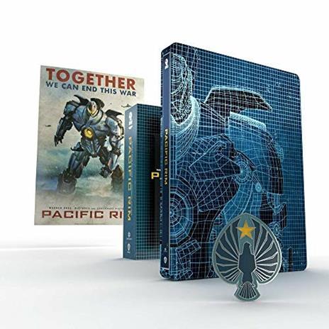 Pacific Rim (Titans of Cult). Con Steelbook (Blu-ray + Blu-ray Ultra HD 4K) di Guillermo Del Toro - Blu-ray + Blu-ray Ultra HD 4K