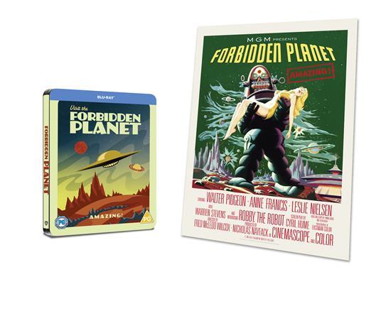 Il pianeta proibito. Con Steelbook e poster (Blu-ray) di Fred M. Wilcox - Blu-ray - 2