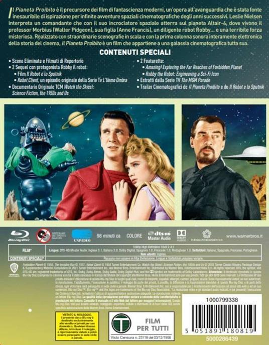 Il pianeta proibito. Con Steelbook e poster (Blu-ray) di Fred M. Wilcox - Blu-ray - 3