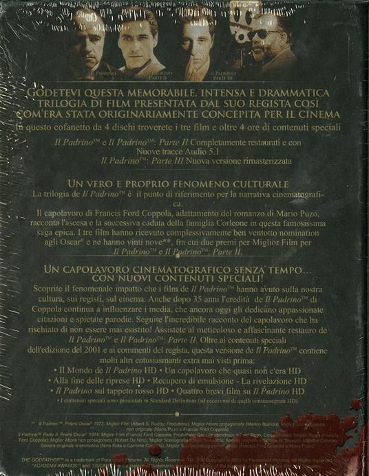 Il Padrino. Edizione da collezione restaurata da Coppola (4 Blu-ray) di Francis Ford Coppola - 2