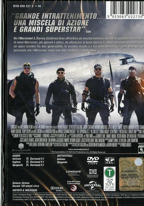 I mercenari 3. The Expendables di Patrick Hughes - DVD - 2